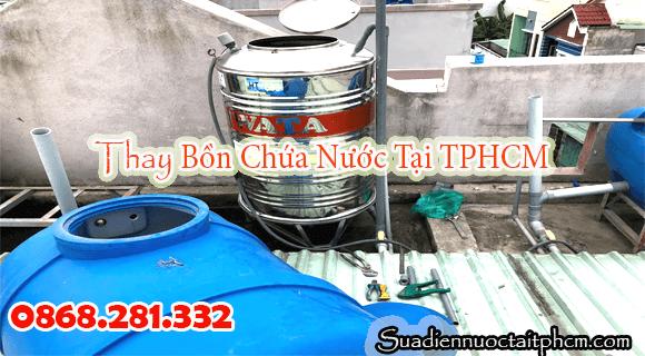 Lắp bồn nước inox tại TPHCM thay thể bồn nhựa
