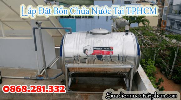 Lắp bồn chứa nước inox tại quận 2