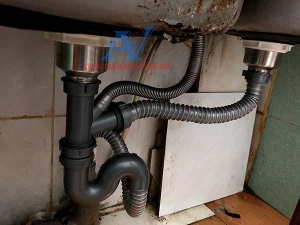 Thay bộ xả bồn rửa chén tại quận Gò Vấp
