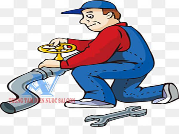Thợ sửa ống nước bị vỡ ngầm